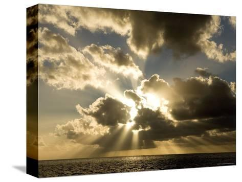 Sunset over the Pacific-Tim Laman-Stretched Canvas Print