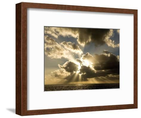 Sunset over the Pacific-Tim Laman-Framed Art Print