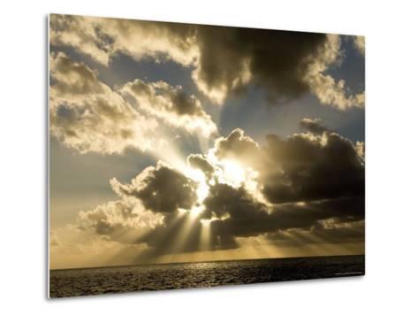 Sunset over the Pacific-Tim Laman-Metal Print