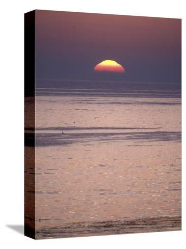 Sun Setting over the Pacific Ocean, California-Rich Reid-Stretched Canvas Print