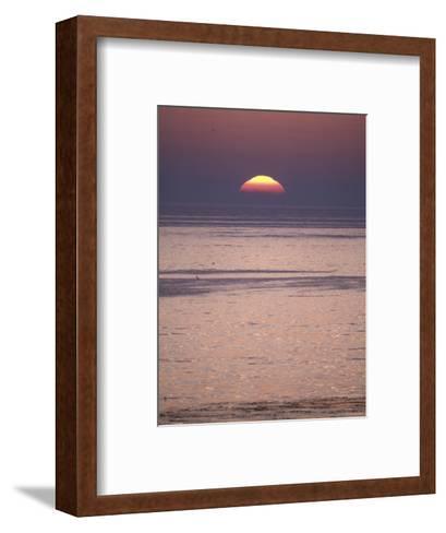 Sun Setting over the Pacific Ocean, California-Rich Reid-Framed Art Print