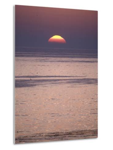 Sun Setting over the Pacific Ocean, California-Rich Reid-Metal Print