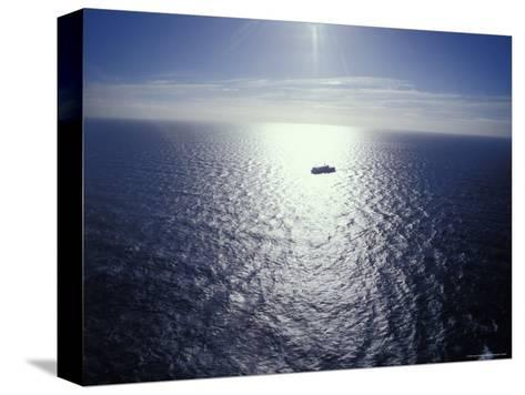 The Seismic Vessel Geco Beta Searches the Vast Ocean for Oil and Gas, Bass Strait, Australia-Jason Edwards-Stretched Canvas Print