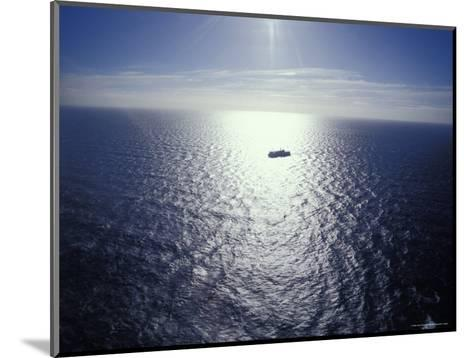 The Seismic Vessel Geco Beta Searches the Vast Ocean for Oil and Gas, Bass Strait, Australia-Jason Edwards-Mounted Photographic Print