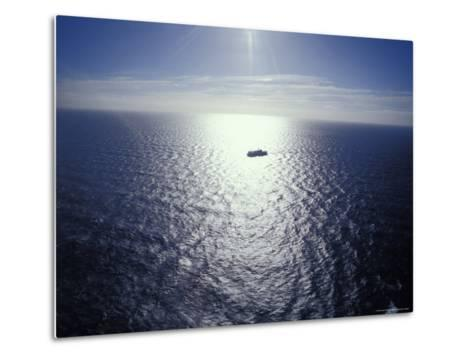 The Seismic Vessel Geco Beta Searches the Vast Ocean for Oil and Gas, Bass Strait, Australia-Jason Edwards-Metal Print
