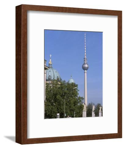 The Second Tallest Radio Tower in Europe Looms over Berlin, Germany-Jason Edwards-Framed Art Print