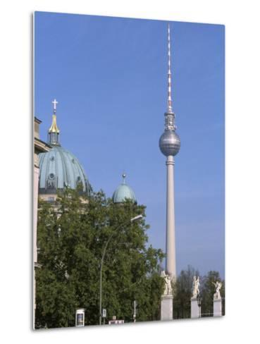The Second Tallest Radio Tower in Europe Looms over Berlin, Germany-Jason Edwards-Metal Print