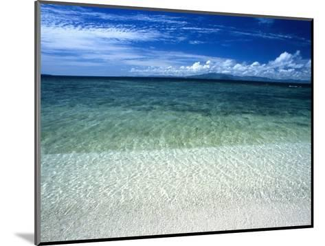 Secluded White Sands Beach on a Tropical Island with Blue Sky, Clouds-James Forte-Mounted Photographic Print