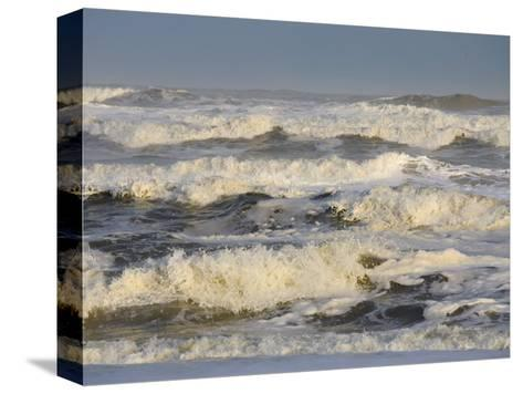 Storm Waves Pound the Shore-Skip Brown-Stretched Canvas Print