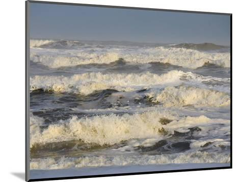 Storm Waves Pound the Shore-Skip Brown-Mounted Photographic Print