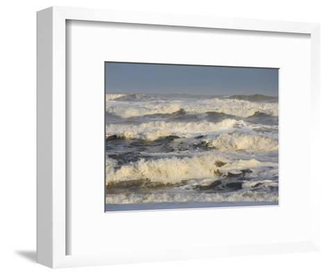 Storm Waves Pound the Shore-Skip Brown-Framed Art Print