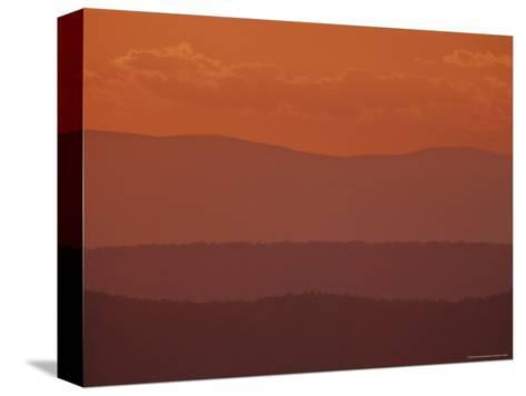 Scenic Sunset View of Blue Ridge Mountains, Virginia-Kenneth Garrett-Stretched Canvas Print