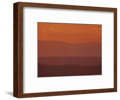 Scenic Sunset View of Blue Ridge Mountains, Virginia-Kenneth Garrett-Framed Art Print