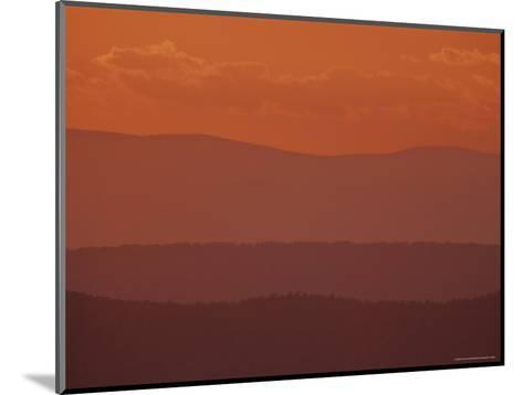 Scenic Sunset View of Blue Ridge Mountains, Virginia-Kenneth Garrett-Mounted Photographic Print