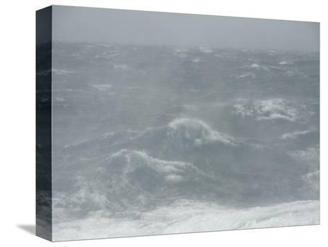 Spindrift Blows Off Waves in Gale Force Winds-Ralph Lee Hopkins-Stretched Canvas Print
