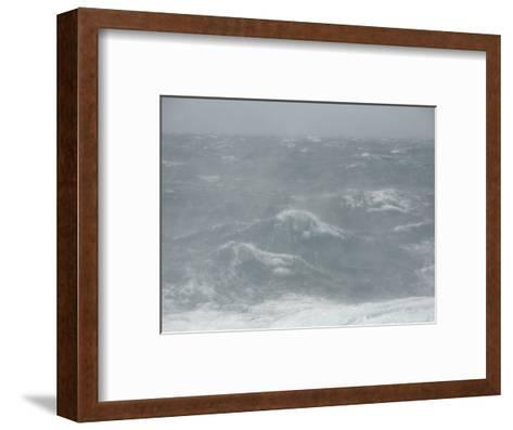 Spindrift Blows Off Waves in Gale Force Winds-Ralph Lee Hopkins-Framed Art Print
