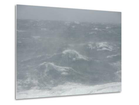 Spindrift Blows Off Waves in Gale Force Winds-Ralph Lee Hopkins-Metal Print