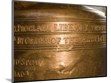 Text on the Liberty Bell-Tim Laman-Mounted Photographic Print