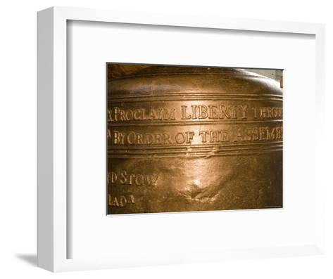 Text on the Liberty Bell-Tim Laman-Framed Art Print