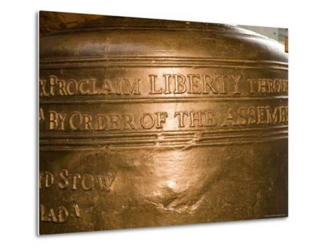 Text on the Liberty Bell-Tim Laman-Metal Print