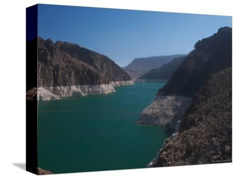 The Waters of Lake Mead Are Contained by the Hoover Dam-Heather Perry-Stretched Canvas Print