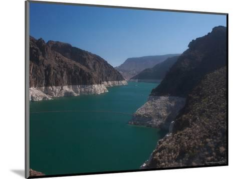 The Waters of Lake Mead Are Contained by the Hoover Dam-Heather Perry-Mounted Photographic Print