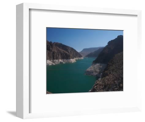 The Waters of Lake Mead Are Contained by the Hoover Dam-Heather Perry-Framed Art Print