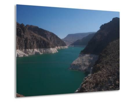 The Waters of Lake Mead Are Contained by the Hoover Dam-Heather Perry-Metal Print