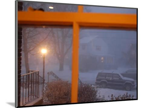 Snow Storm Through a House Window, Chevy Chase, Maryland-Stacy Gold-Mounted Photographic Print