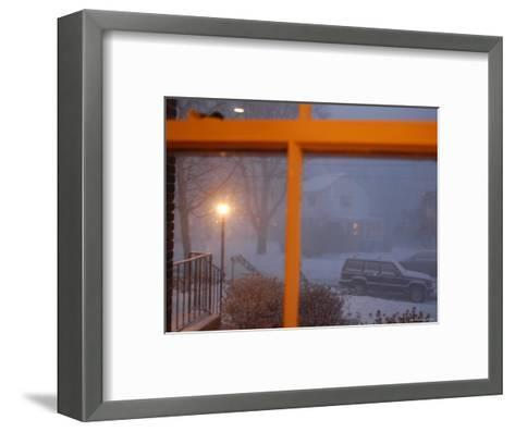 Snow Storm Through a House Window, Chevy Chase, Maryland-Stacy Gold-Framed Art Print