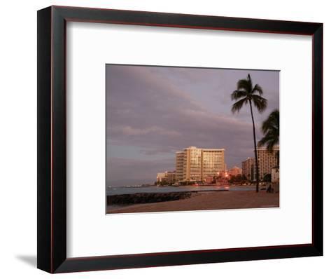 Sunrise at Waikiki Beach, Hawaii-Stacy Gold-Framed Art Print