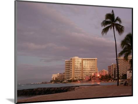 Sunrise at Waikiki Beach, Hawaii-Stacy Gold-Mounted Photographic Print
