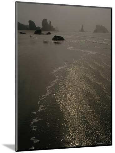 The Sun Reflects Off the Water at Bandon Beach, Oregon-Phil Schermeister-Mounted Photographic Print