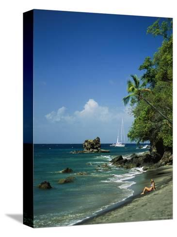 Sunbathing on the Beach in St. Lucia-Anne Keiser-Stretched Canvas Print