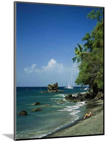 Sunbathing on the Beach in St. Lucia-Anne Keiser-Mounted Photographic Print