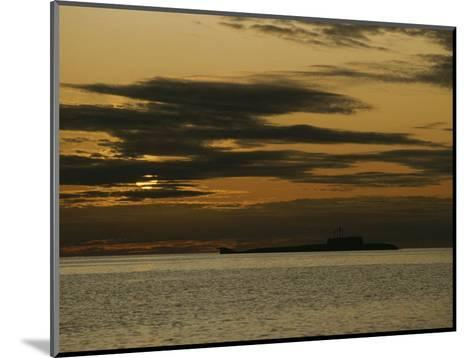 Silhouetted Russian Submarine in the White Sea-James P^ Blair-Mounted Photographic Print
