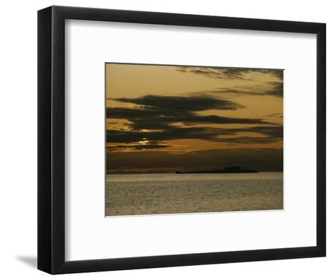 Silhouetted Russian Submarine in the White Sea-James P^ Blair-Framed Art Print