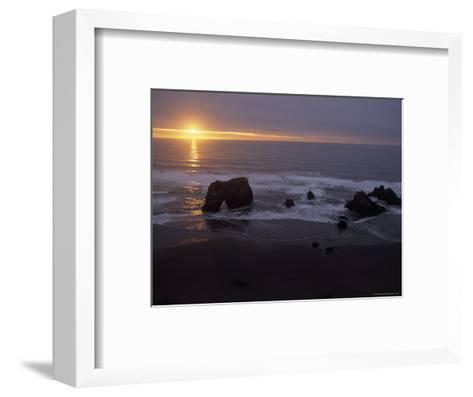 Sunset near Westport, California-Phil Schermeister-Framed Art Print