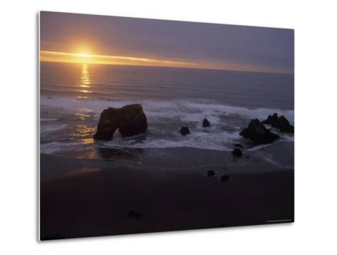 Sunset near Westport, California-Phil Schermeister-Metal Print