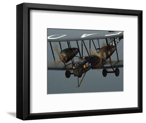The Vimy in the Air near Sydney, Australia-James L^ Stanfield-Framed Art Print