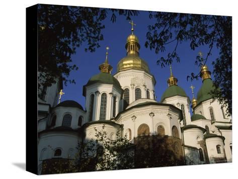 Santa Sophia Church Exterior, Kiev, Ukraine-James L^ Stanfield-Stretched Canvas Print