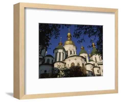 Santa Sophia Church Exterior, Kiev, Ukraine-James L^ Stanfield-Framed Art Print