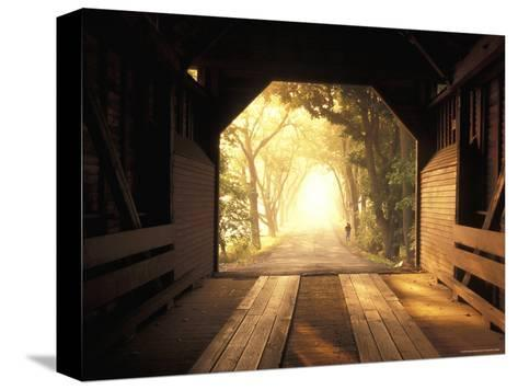 View from Inside a Covered Bridge in Virginia's Shenandoah Valley-Richard Nowitz-Stretched Canvas Print