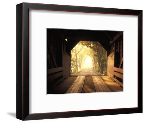 View from Inside a Covered Bridge in Virginia's Shenandoah Valley-Richard Nowitz-Framed Art Print