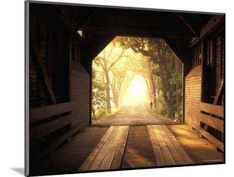 View from Inside a Covered Bridge in Virginia's Shenandoah Valley-Richard Nowitz-Mounted Photographic Print