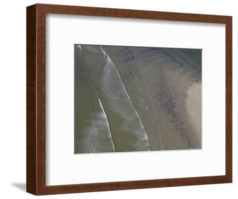 Waves Break on a Sand Bar Off the Maine Coast-Heather Perry-Framed Art Print