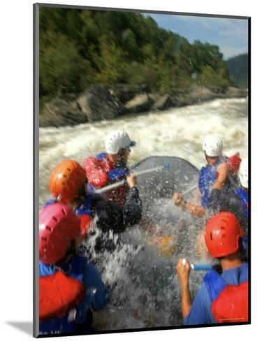 Whitewater Rafters Take on the Upper Gauley River-Skip Brown-Mounted Photographic Print