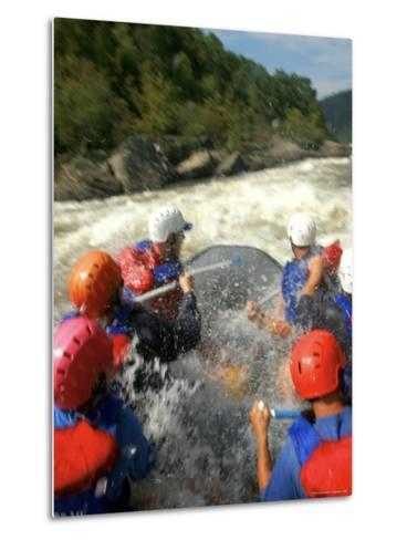 Whitewater Rafters Take on the Upper Gauley River-Skip Brown-Metal Print