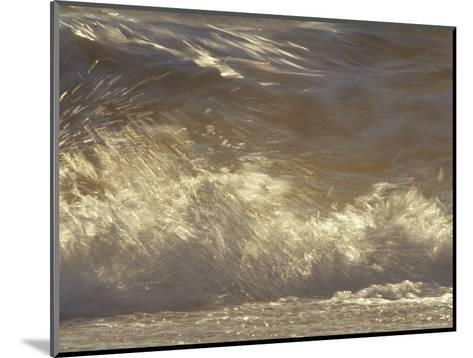 Waves Breaking Onto a Beach Turn Golden at Sunset, Coorong National Park, Australia-Jason Edwards-Mounted Photographic Print