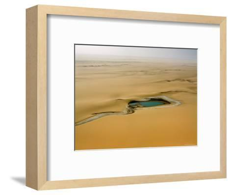 When There is Rain Water Accumulates in the Desert E of the Air Mtns, Niger-Michael Fay-Framed Art Print